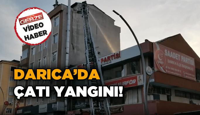 Darıca'da çatı yangını!