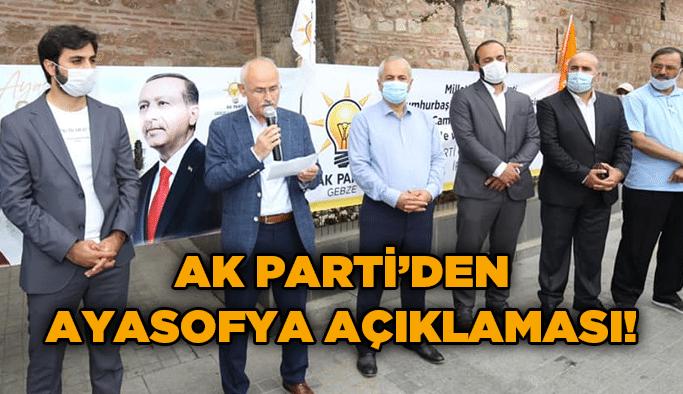 AK Parti'den Ayasofya açıklaması!