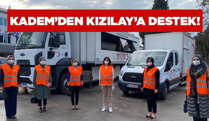 KADEM'den Kızılay'a destek!