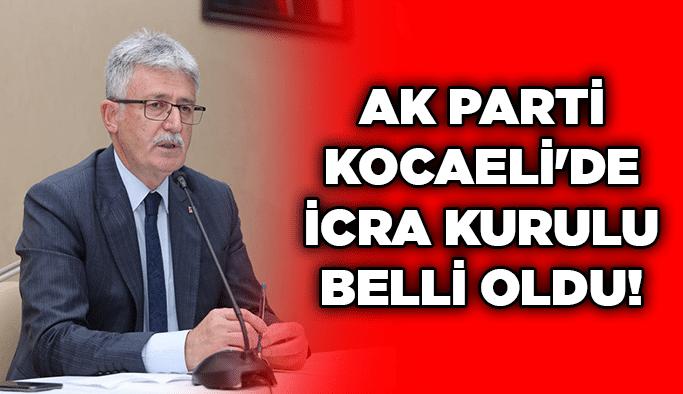 AK Parti Kocaeli'de İcra Kurulu belli oldu!