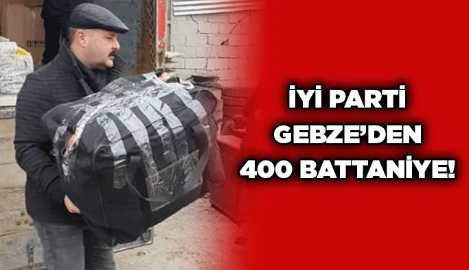 İYİ Parti Gebze'den 400 battaniye!