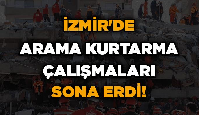 İzmir'de arama kurtarma çalışmaları sona erdi!