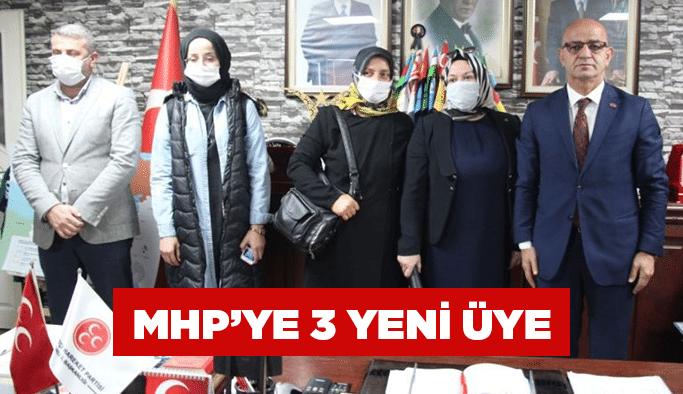 MHP'ye 3 yeni üye