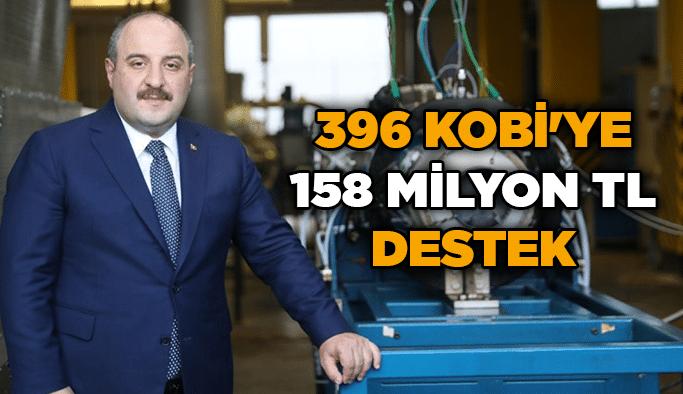 396 KOBİ'ye 158 milyon TL destek