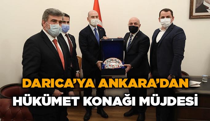 Darıca'ya Ankara'danHükümet Konağı müjdesi