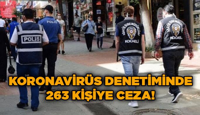 Koronavirüs denetiminde 263 kişiye ceza!