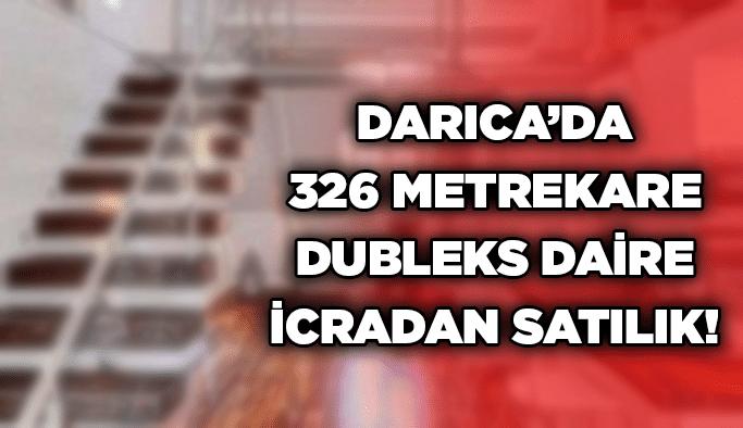 Darıca'da 326 metrekare dubleks daire icradan satılık!